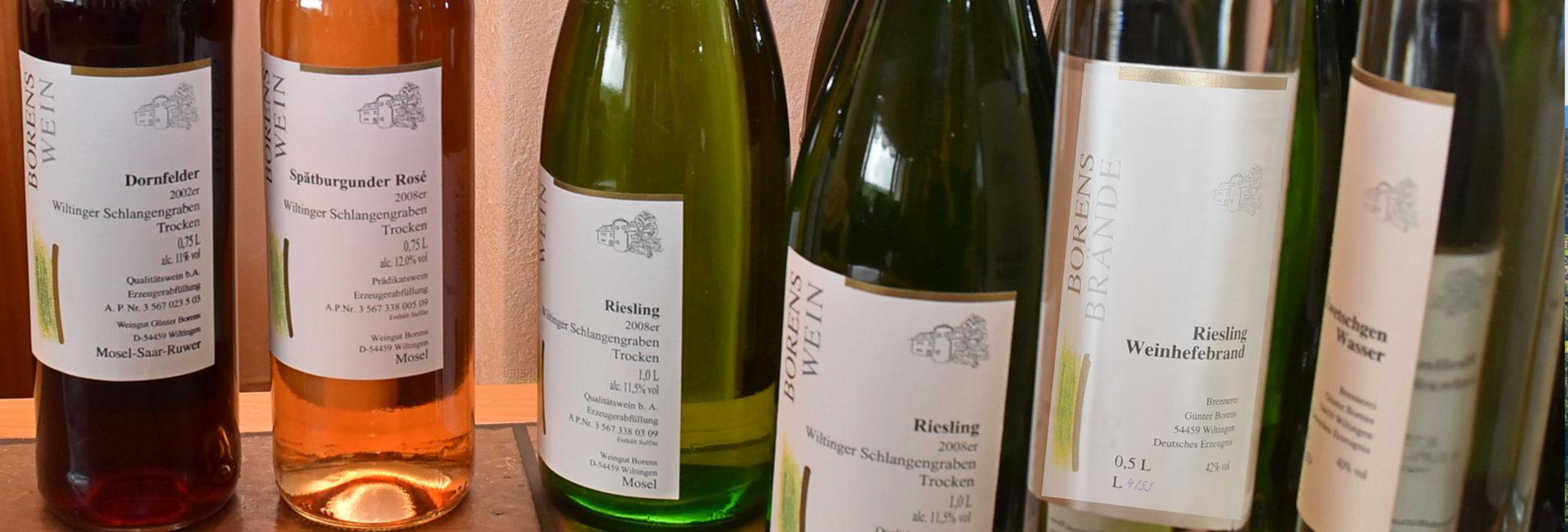 Wilthingen an der Saar - Weingut Borens - Saarwein, Riesling, Burgunder
