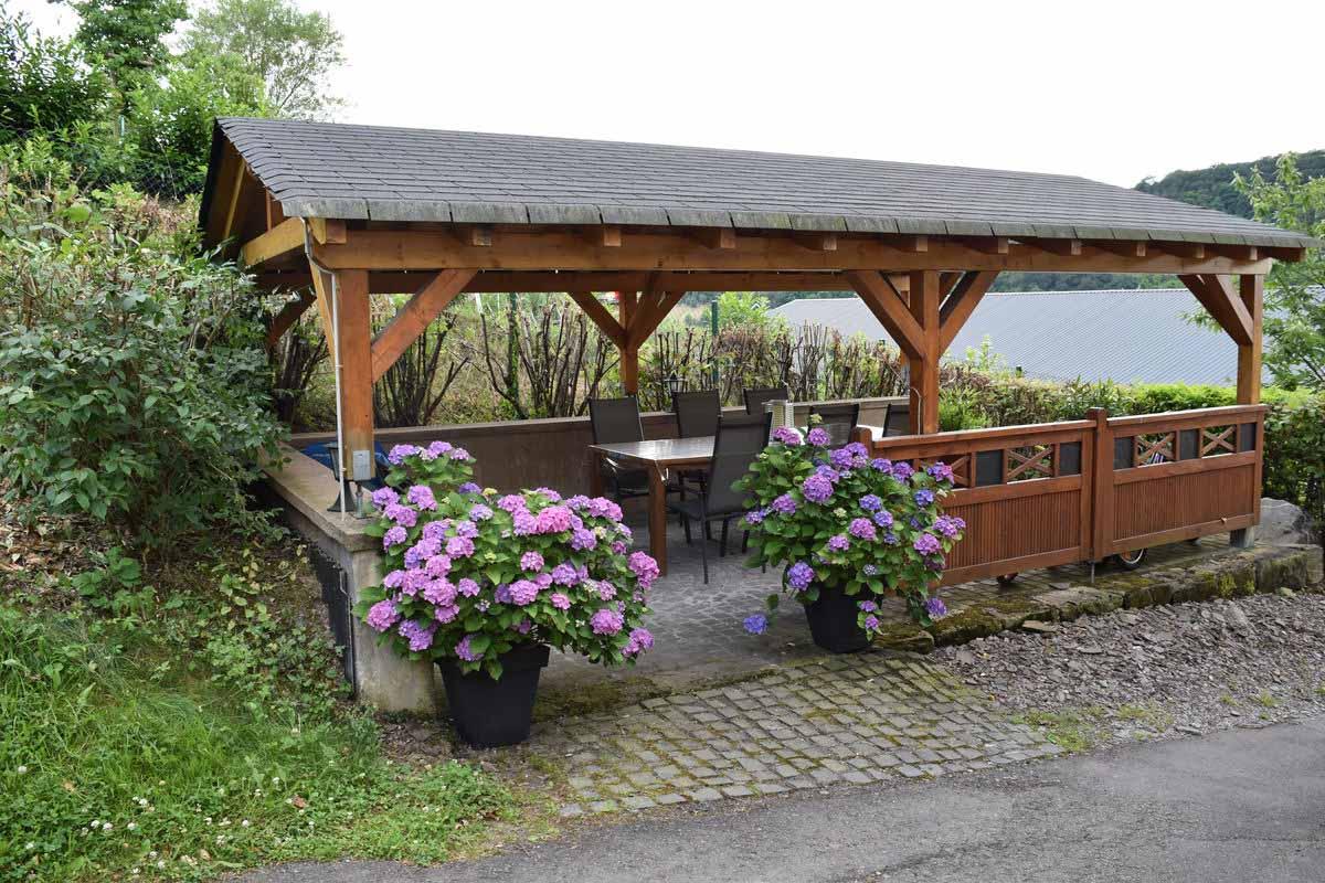 Pavillion - Ferienwohnung Weingut an der Saar Weingarten